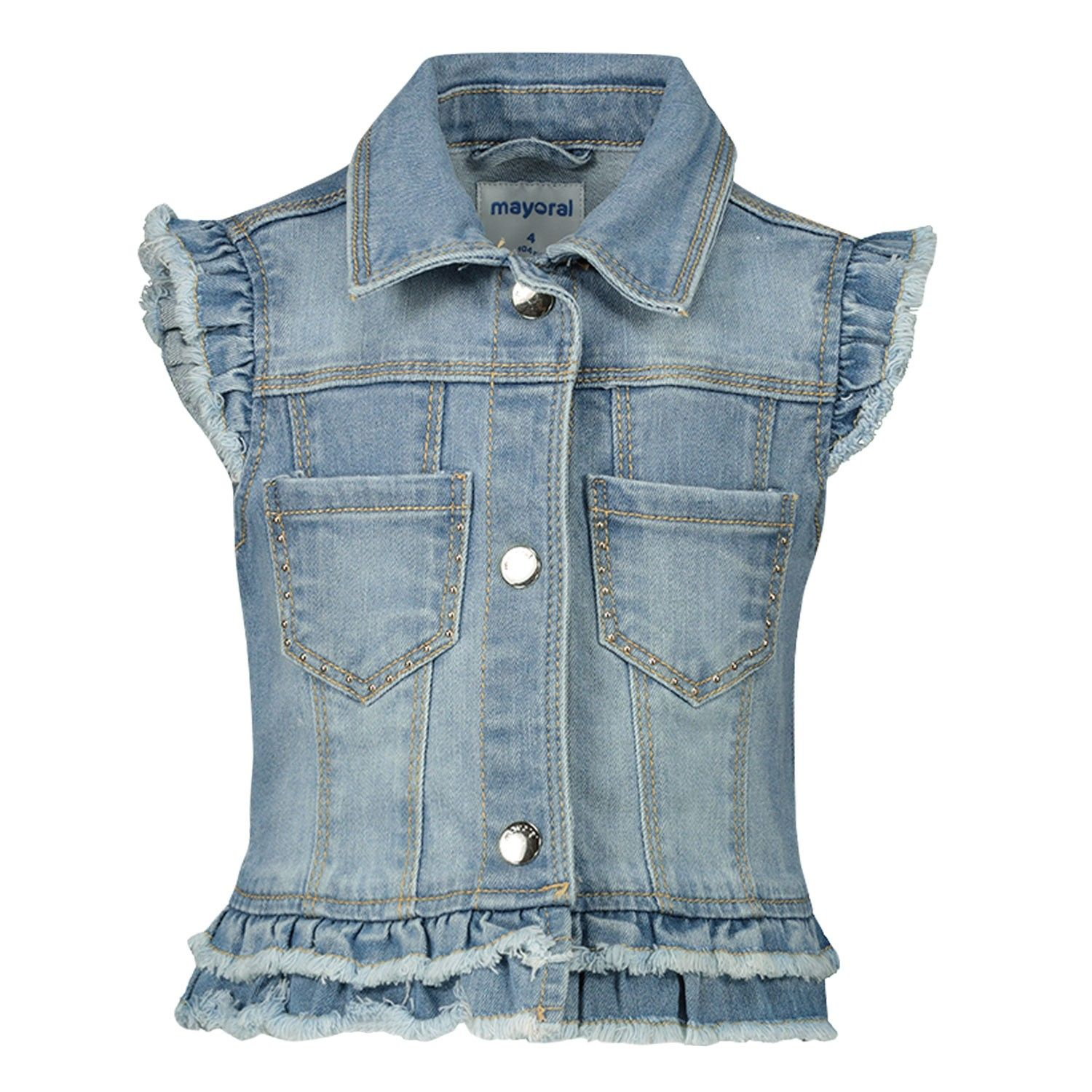 Picture of Mayoral 3322 kids gilet jeans