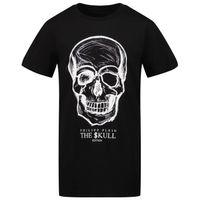 Picture of Philipp Plein BTK1126 kids t-shirt black