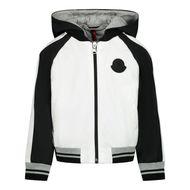 Afbeelding van Moncler 1A70620 babyjas wit/zwart