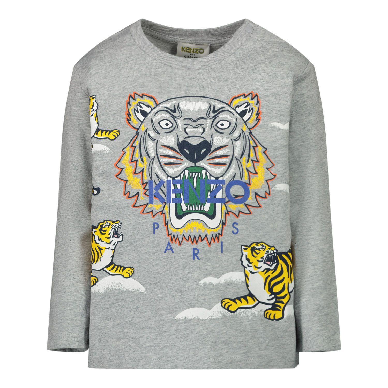 Afbeelding van Kenzo KR10728BB baby t-shirt grijs