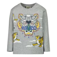 Picture of Kenzo KR10728BB baby shirt grey