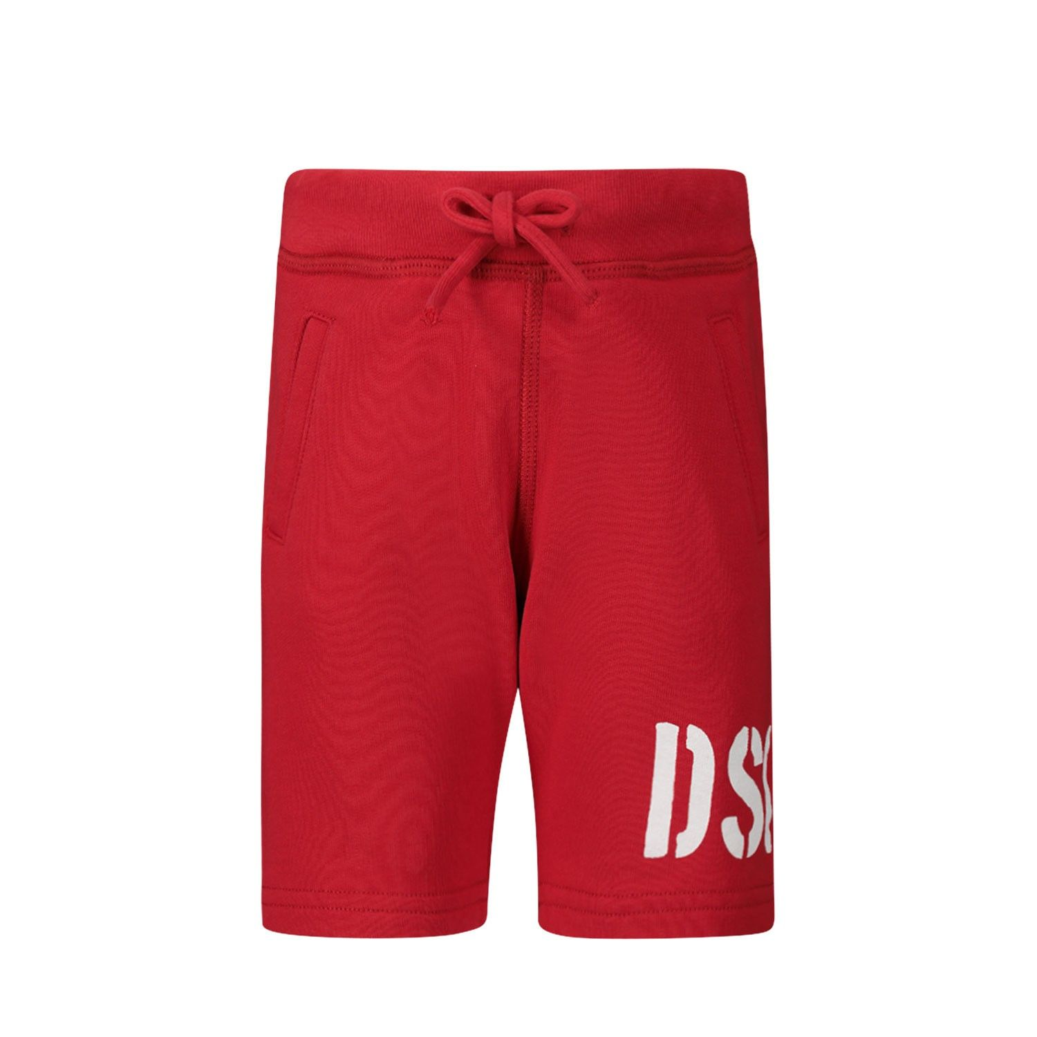 Picture of Dsquared2 DQ04F9 baby shorts red