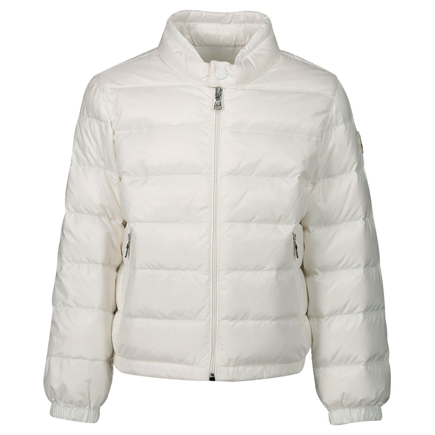 Picture of Moncler 1A10400 baby coat off white