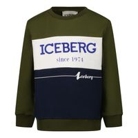 Picture of Iceberg MFICE2323B baby sweater army