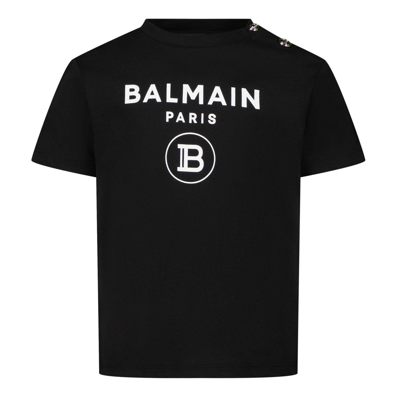 Picture of Balmain 6P8A91 baby shirt black