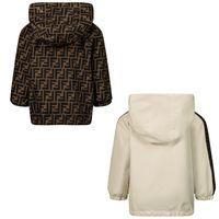 Picture of Fendi BUA037 ADF0 baby coat beige