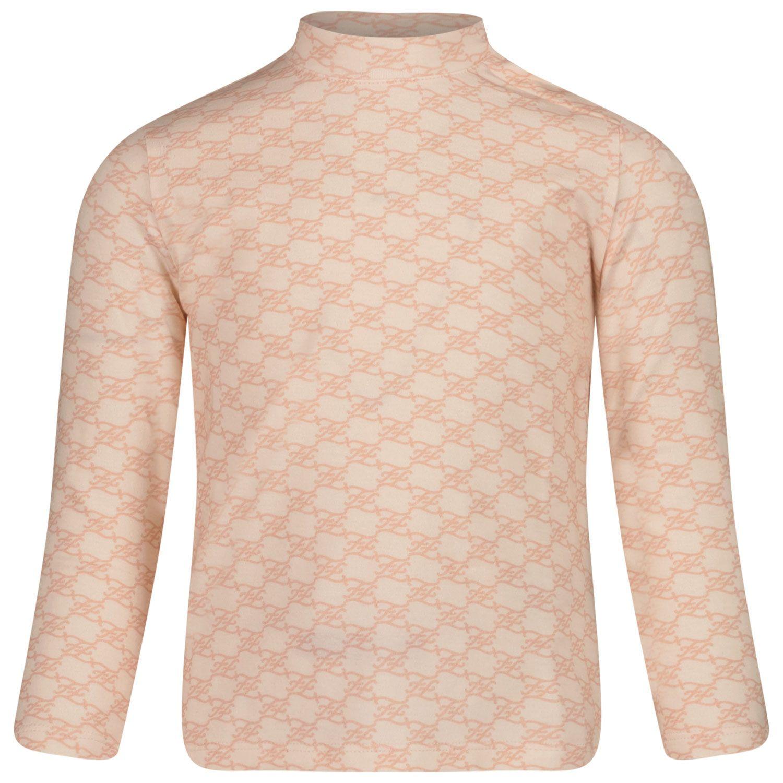Afbeelding van Fendi BFI128 AG25 baby t-shirt licht roze