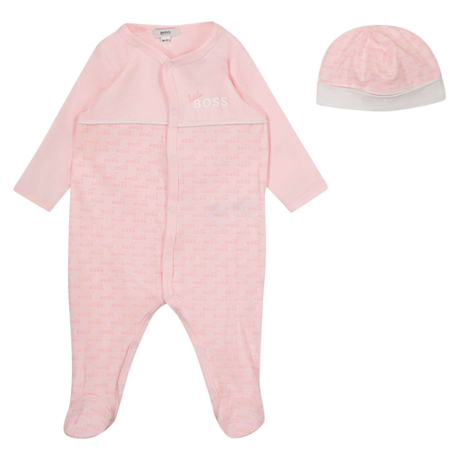Picture of Boss J98329 baby playsuit light pink