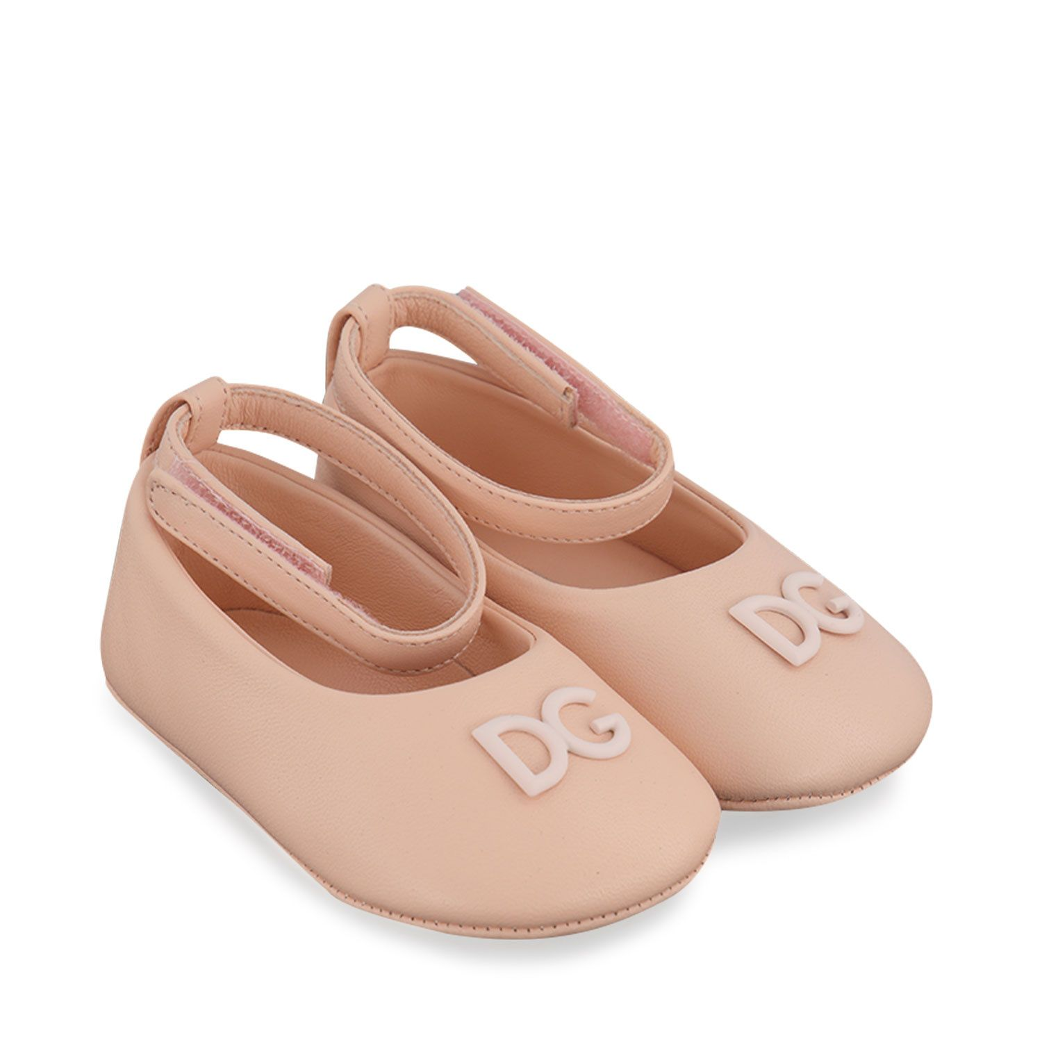 Picture of Dolce & Gabbana DK0065 A1293 baby shoes light pink