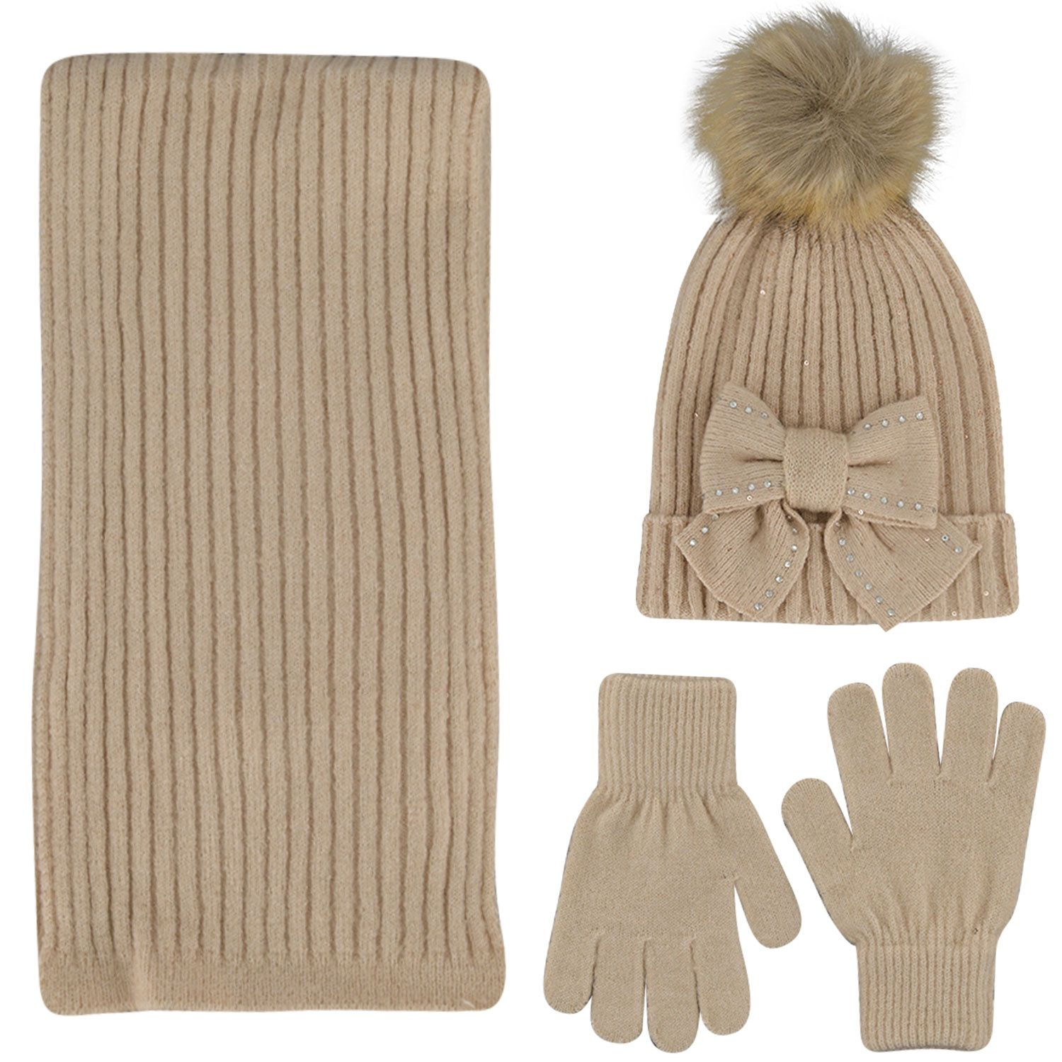 Picture of Mayoral 10155 kids hat beige