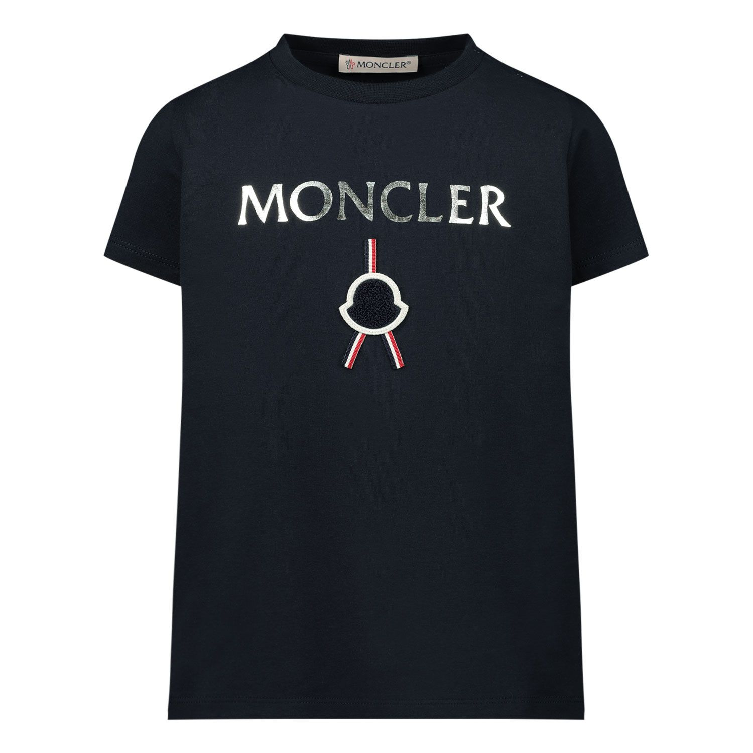 Picture of Moncler 8C72310 baby shirt navy