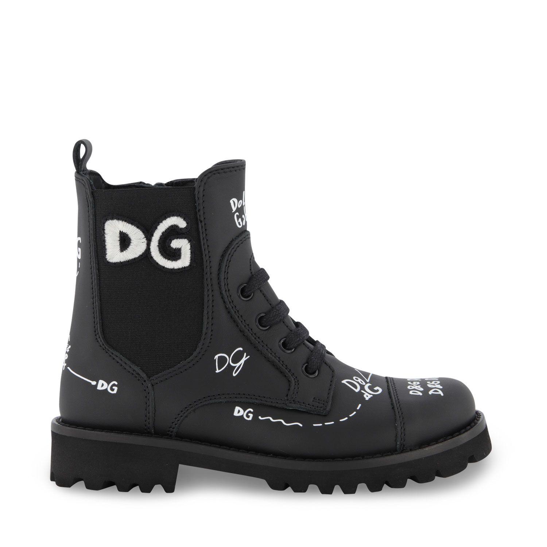 Afbeelding van Dolce & Gabbana D10983 AH813 kindersneakers zwart