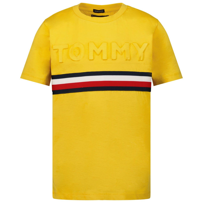 Picture of Tommy Hilfiger KB0KB06320 kids t-shirt ocher