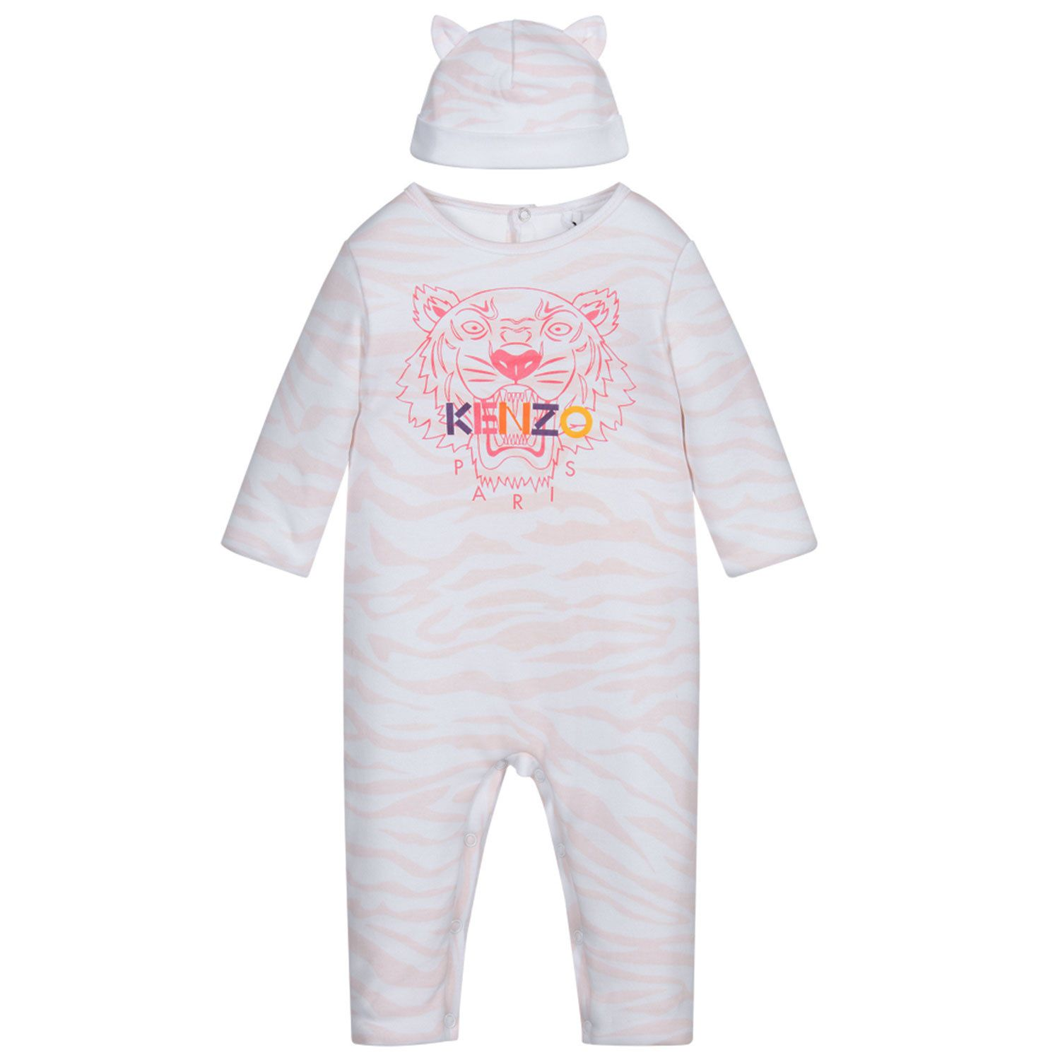 Picture of Kenzo KR99033 baby playsuit light pink