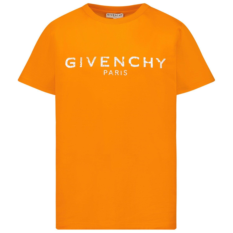 Afbeelding van Givenchy H25M47 kinder t-shirt oranje
