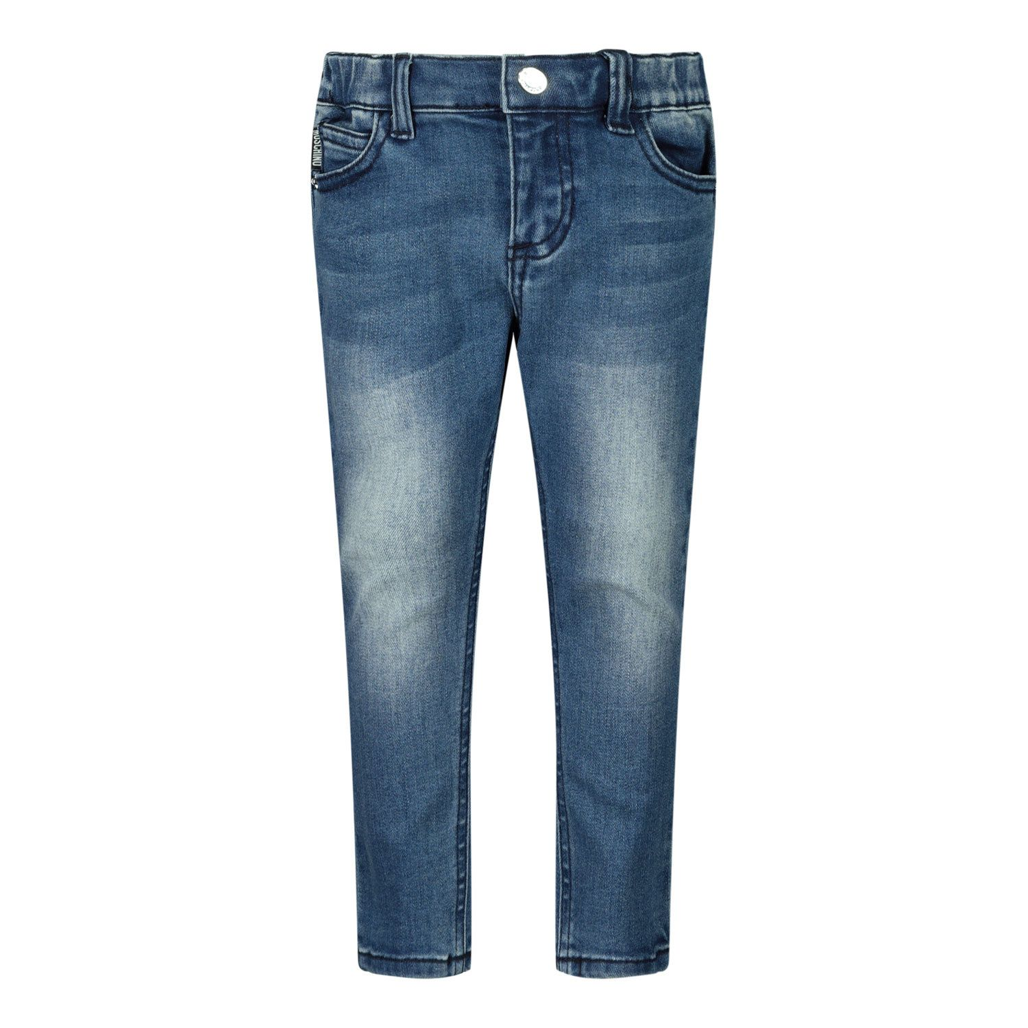 Picture of Moschino MMP038 baby pants jeans