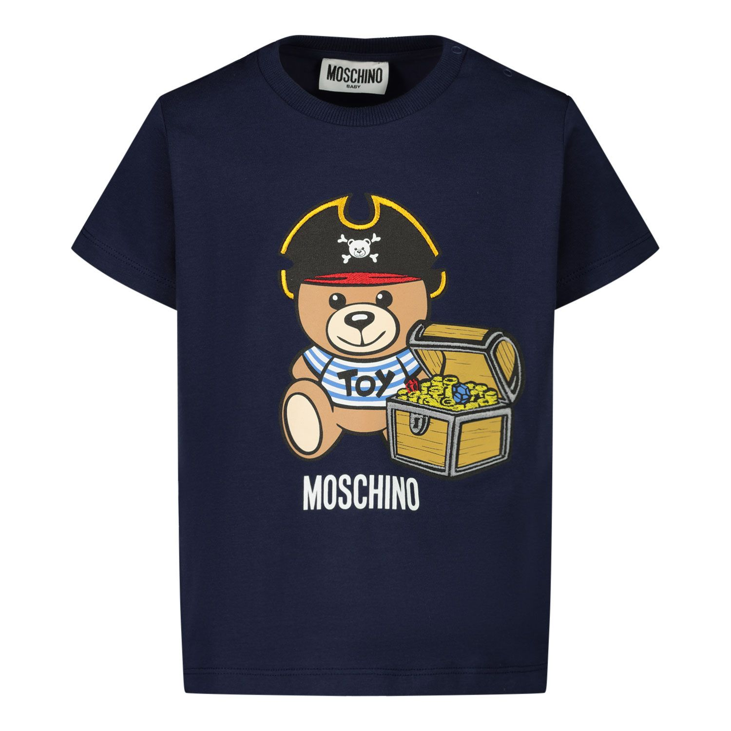 Picture of Moschino MWM02A baby shirt navy