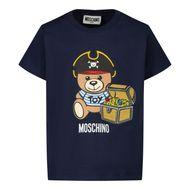 Afbeelding van Moschino MWM02A baby t-shirt navy