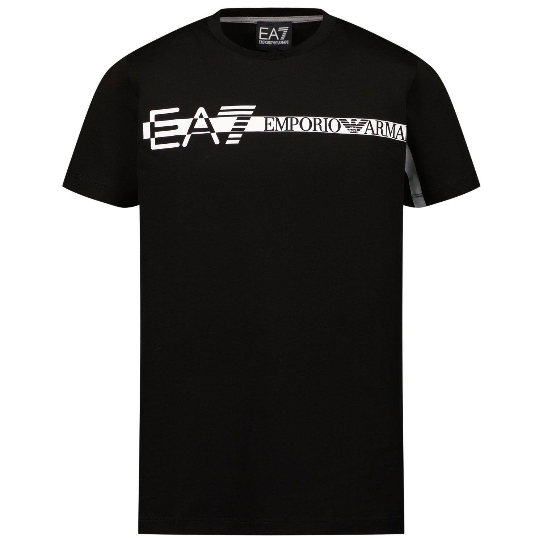 Picture of EA7 3KBT58 kids t-shirt black