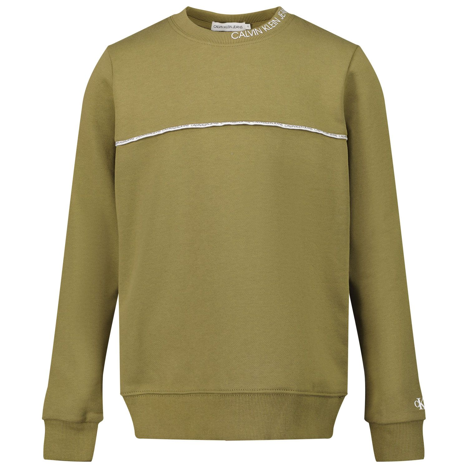 Picture of Calvin Klein IB0IB00676 kids sweater olive green