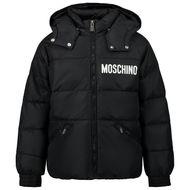 Afbeelding van Moschino HUS02H kinderjas zwart