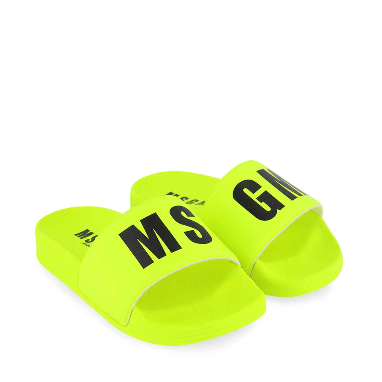 Bild von MSGM 67302 Kinder-Flip-Flops Neongelb