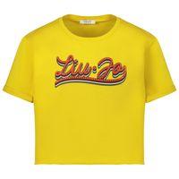 Picture of Liu Jo GA0050 kids t-shirt yellow