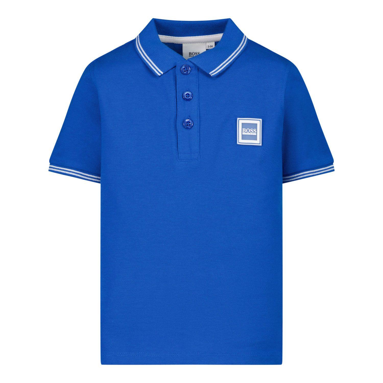 Afbeelding van Boss J05846 baby polo cobalt blauw