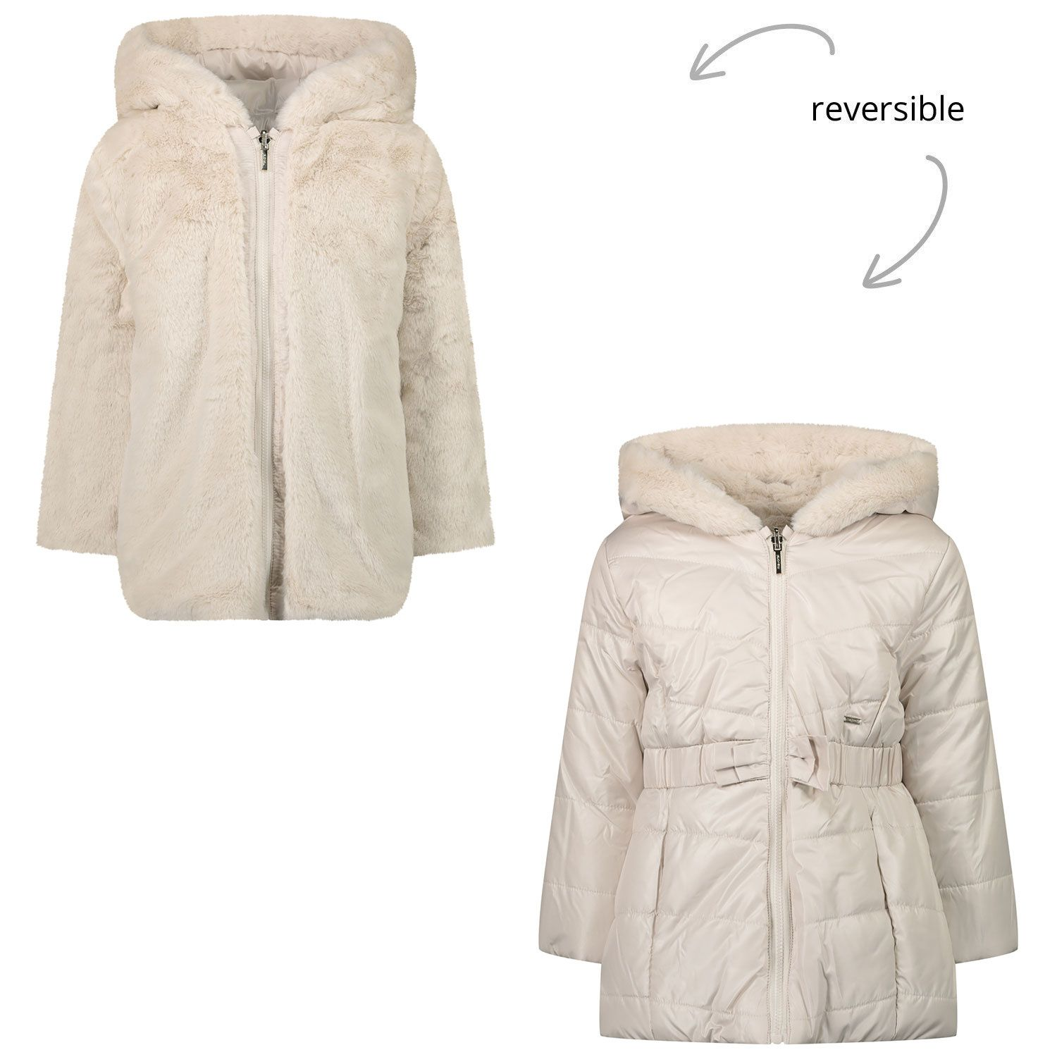 Picture of Mayoral 2412 baby coat sand