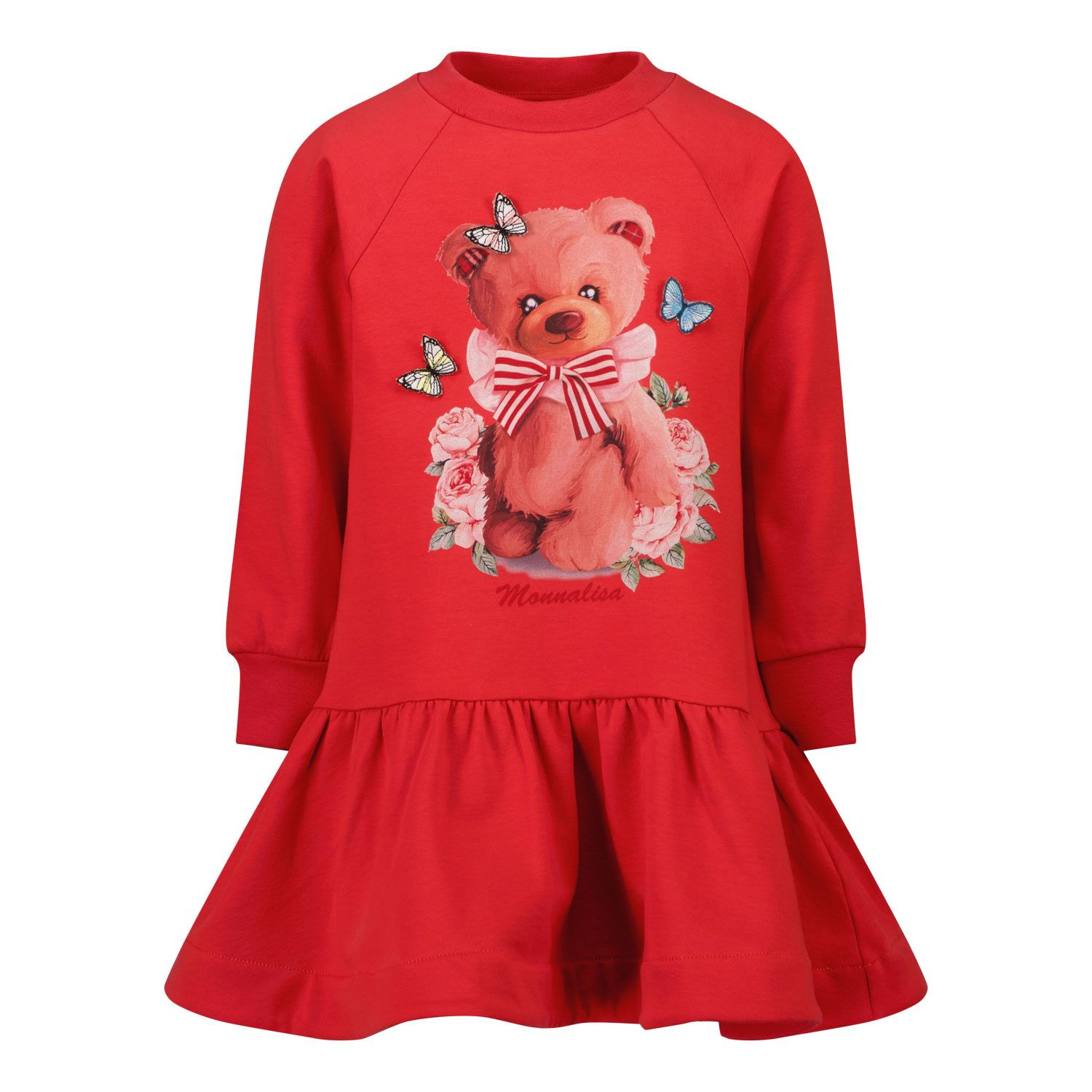 Picture of MonnaLisa 198906SI kids dress red
