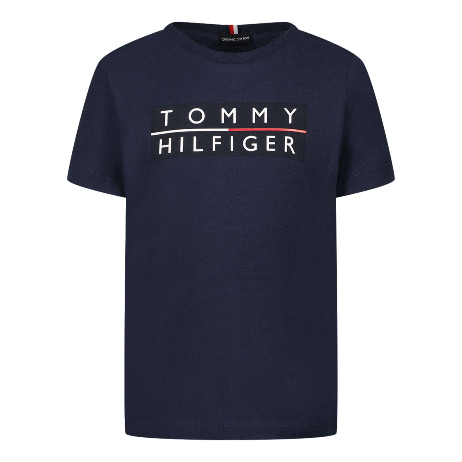Picture of Tommy Hilfiger KB0KB06675 B baby shirt navy