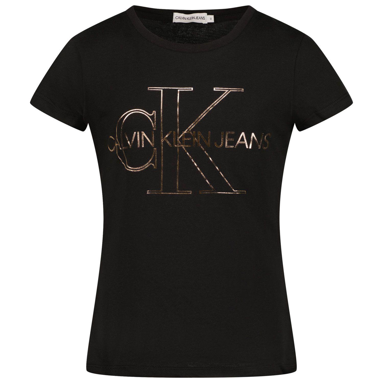 Afbeelding van Calvin Klein IG0IG01159 kinder t-shirt zwart