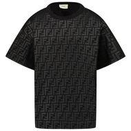 Afbeelding van Fendi JMI368 AG3X kinder t-shirt zwart