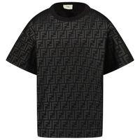 Picture of Fendi JMI368 AG3X kids t-shirt black