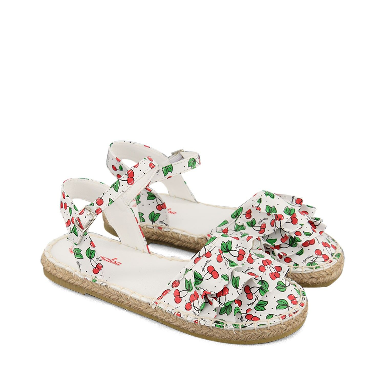 Picture of MonnaLisa 995044 kids sandals white