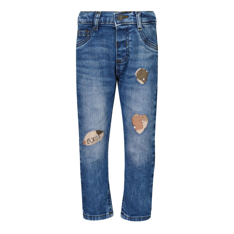 Afbeelding van Guess N1RA01 babybroekje jeans