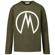 Afbeelding van Moncler 8D70620 kinder t-shirt groen
