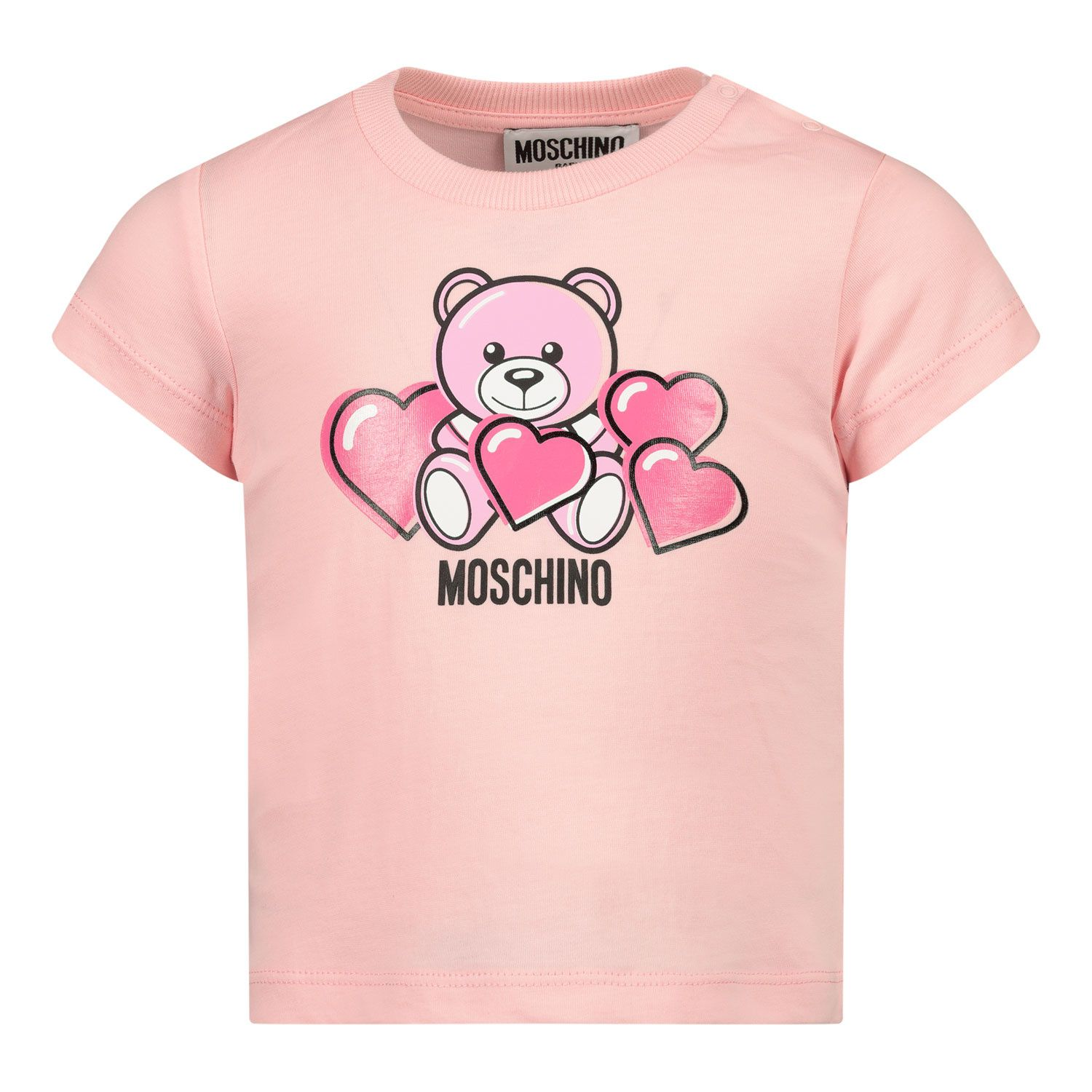 Picture of Moschino MXM02A baby shirt light pink