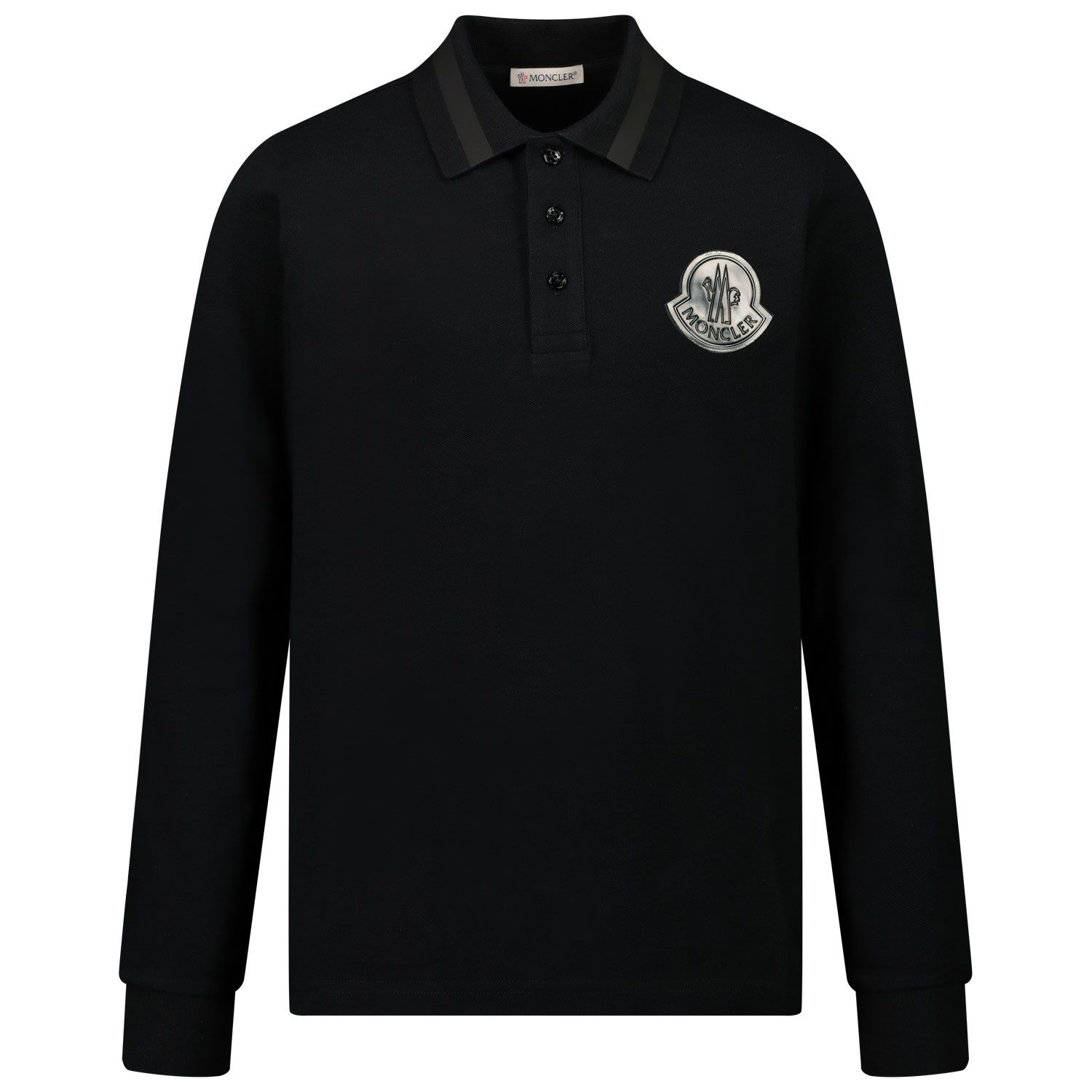 Picture of Moncler 8B70620 kids polo shirt black