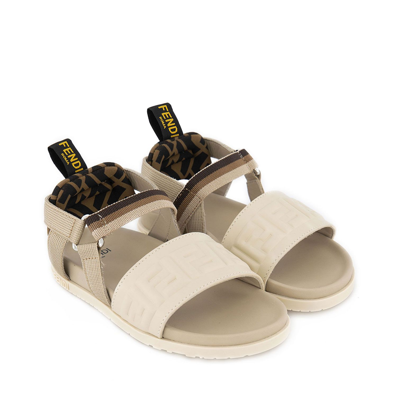 Picture of Fendi JMR341 AF5Z kids sandals beige