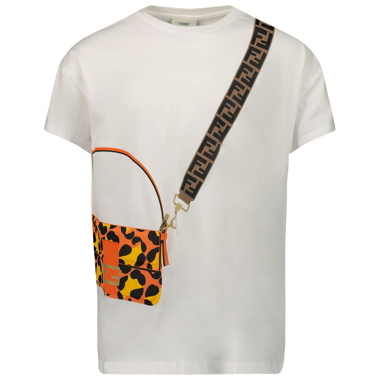 Afbeelding van Fendi JFI223 7AJ kinder t-shirt wit