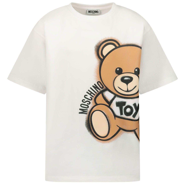 Bild von Moschino HQM02X Kindershirt Weiß