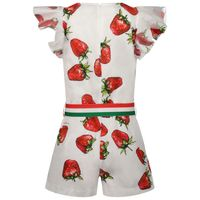 Picture of MonnaLisa 117200 kids jumpsuit white