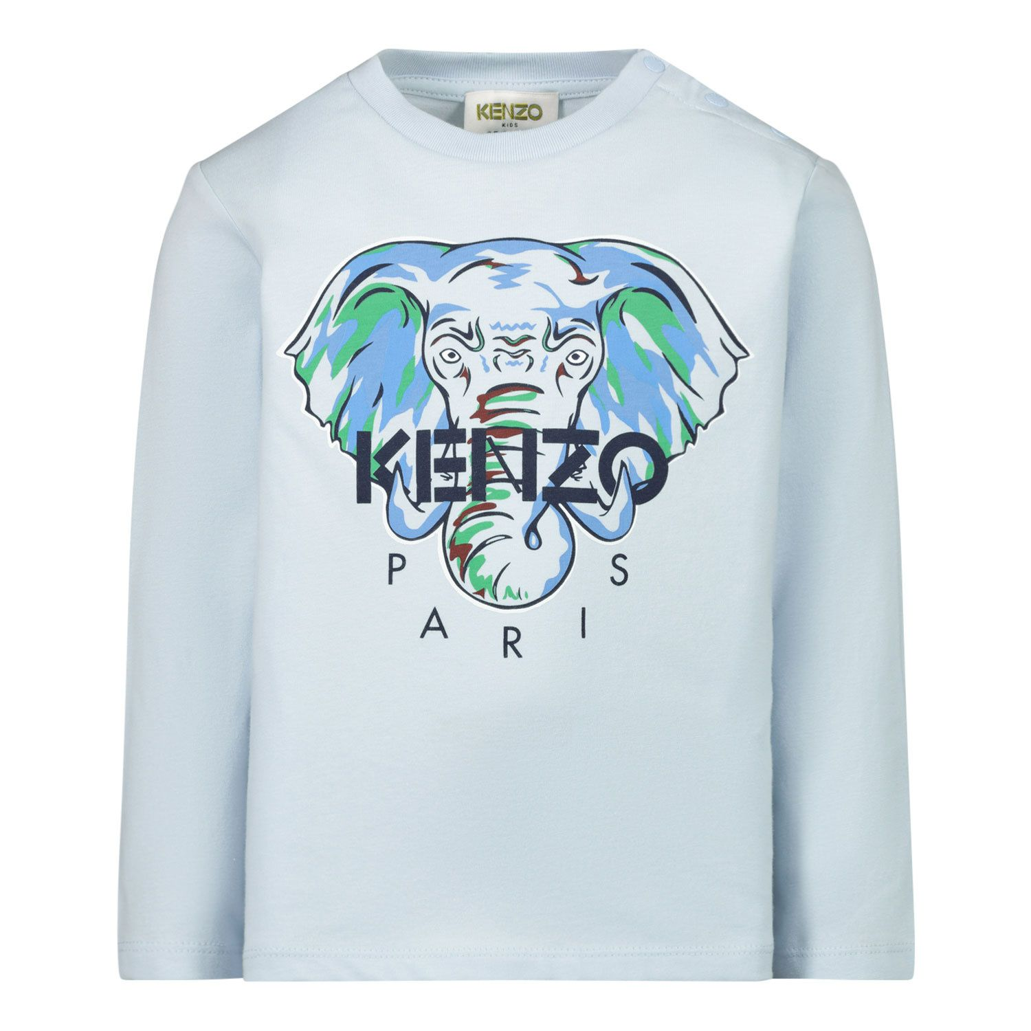 Picture of Kenzo KR10527 baby shirt light blue