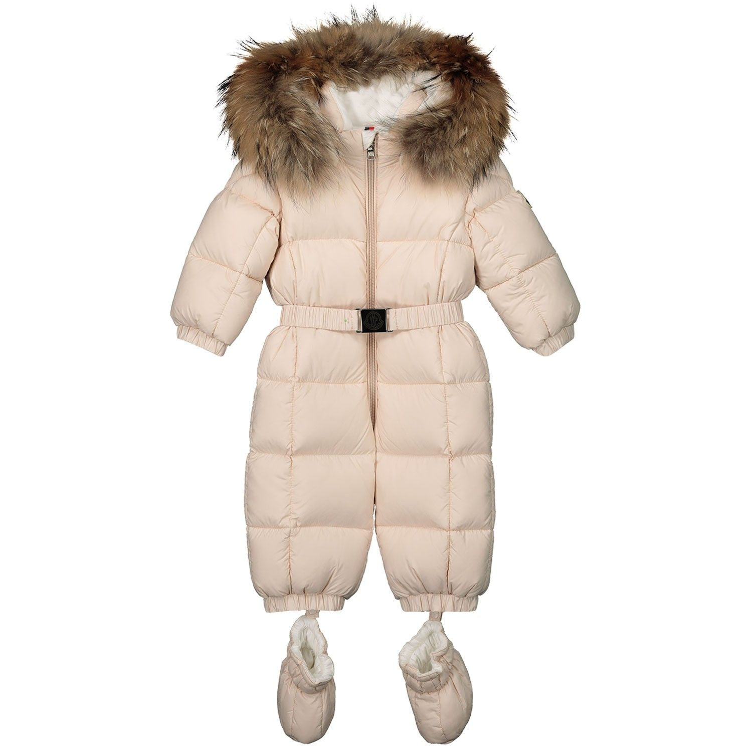 Picture of Moncler 1435525 baby snowsuit light pink