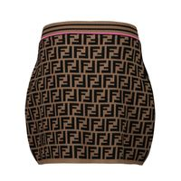 Picture of Fendi JFG070 AEYD kids skirt brown