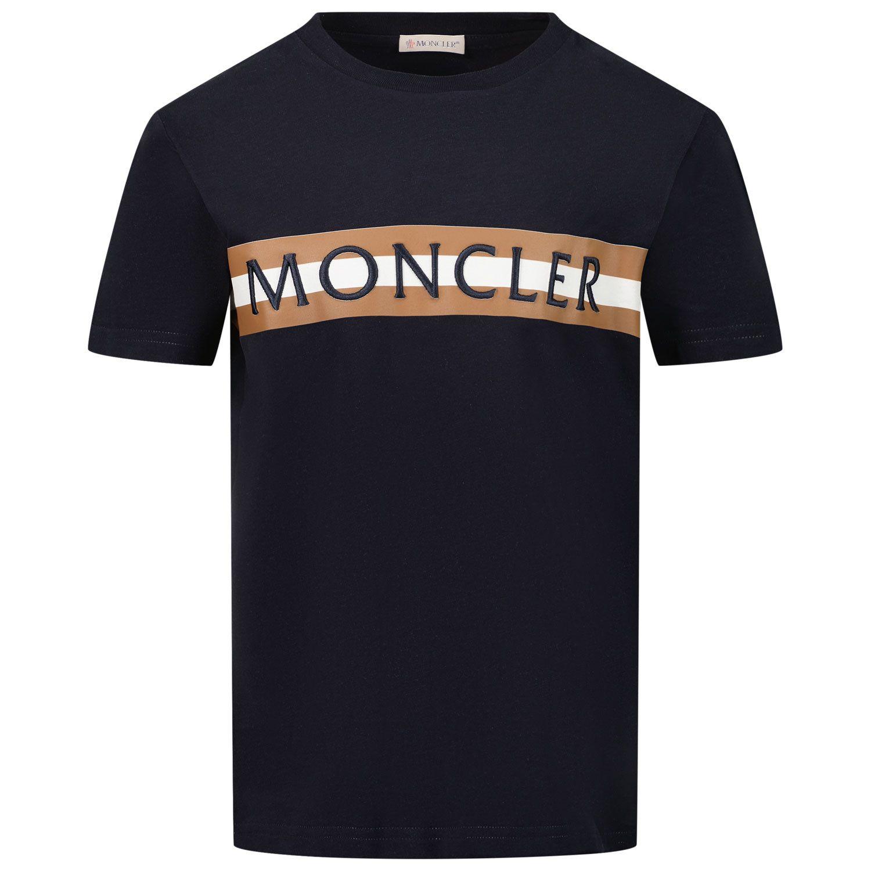 Afbeelding van Moncler 8C76620 kinder t-shirt navy