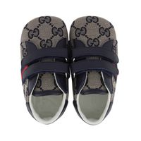 Picture of Gucci 502051 baby shoes navy