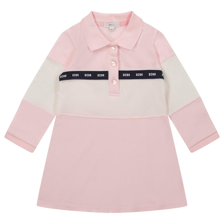 Afbeelding van Boss J92061 babyjurkje licht roze