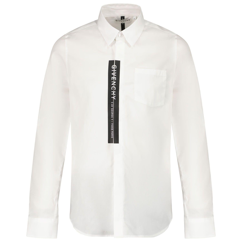 Afbeelding van Givenchy H25267 kinder overhemd wit